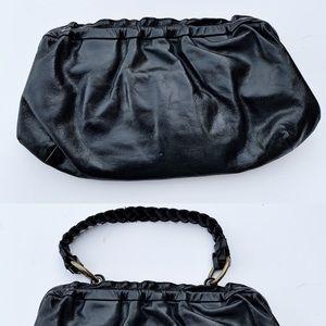 HOBO Black Leather Large Clutch Mini Bag C122